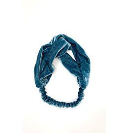Velvet Headband Light Blue